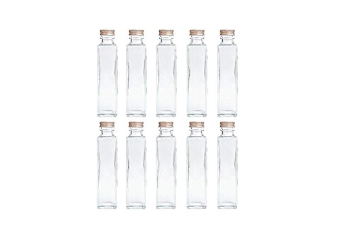 特別にまたはどちらか提供HULALA ハーバリウム用ガラス瓶 日本製 10本セット (角型 150ml)