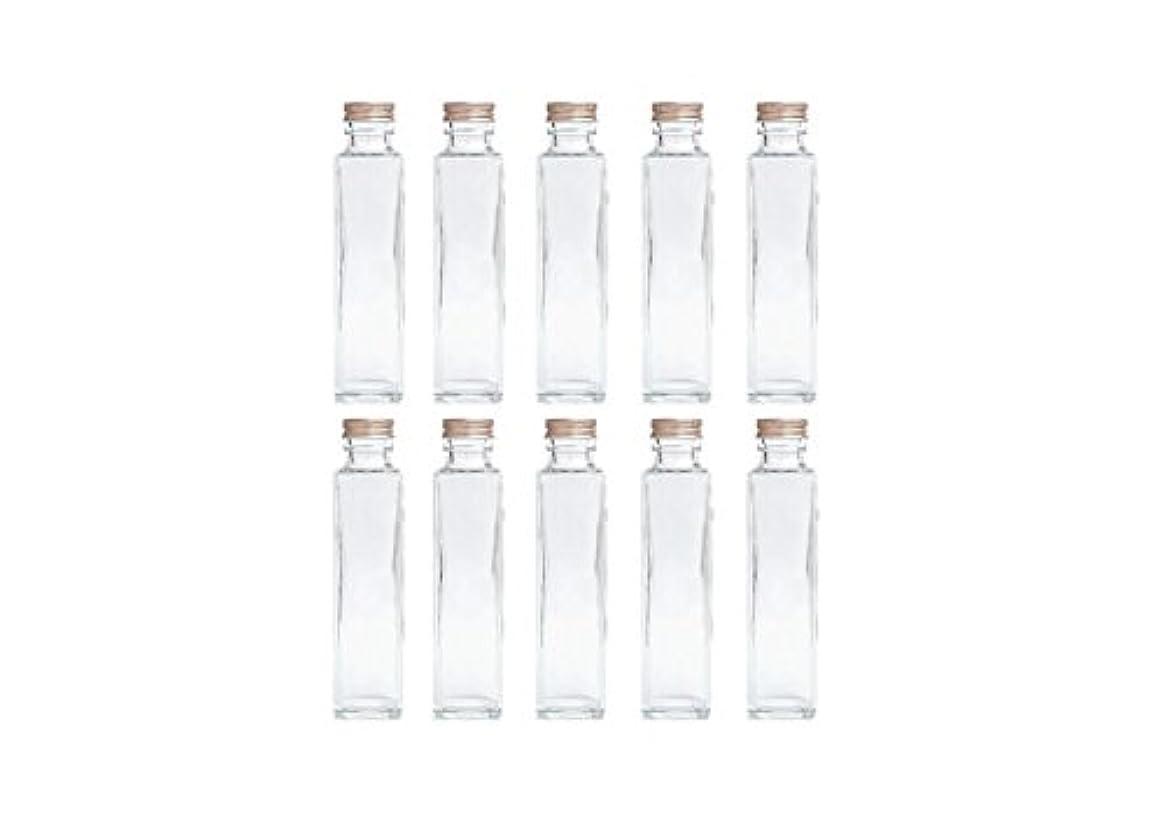 再生可能アウトドアバンHULALA ハーバリウム用ガラス瓶 日本製 10本セット (角型 150ml)