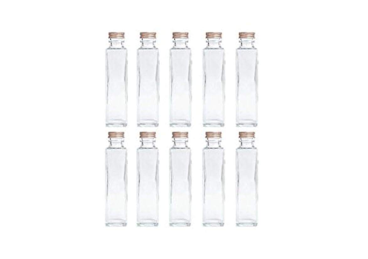 入札外観専門HULALA ハーバリウム用ガラス瓶 日本製 10本セット (角型 150ml)