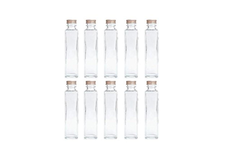 準備投票サバントHULALA ハーバリウム用ガラス瓶 日本製 10本セット (角型 150ml)