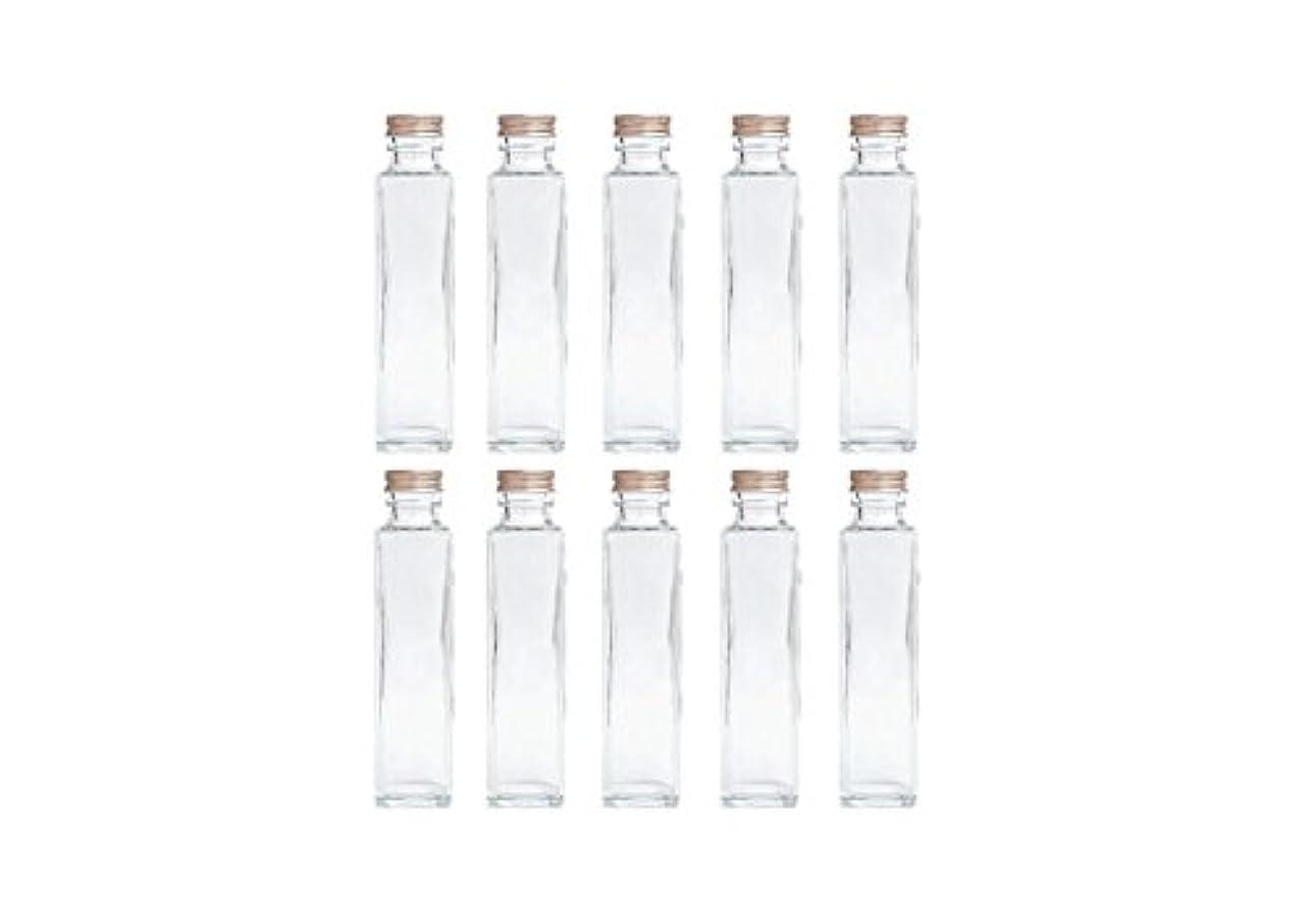 創造ポジション一般的に言えばHULALA ハーバリウム用ガラス瓶 日本製 10本セット (角型 150ml)