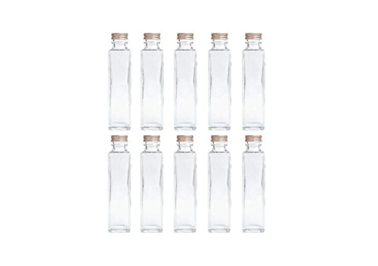 褒賞細分化する嫌いHULALA ハーバリウム用ガラス瓶 日本製 10本セット (角型 150ml)