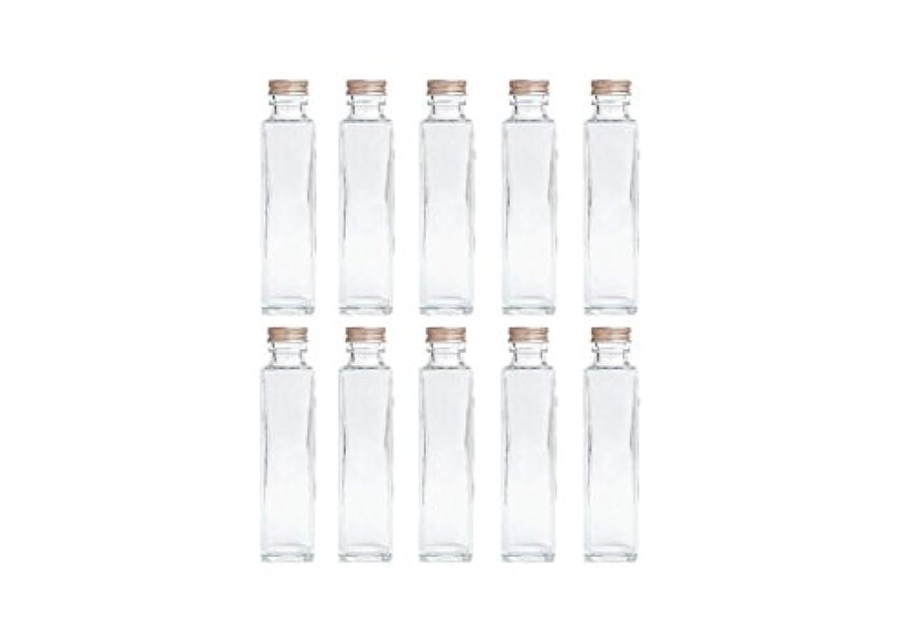 些細なおしゃれじゃない自伝HULALA ハーバリウム用ガラス瓶 日本製 10本セット (角型 150ml)