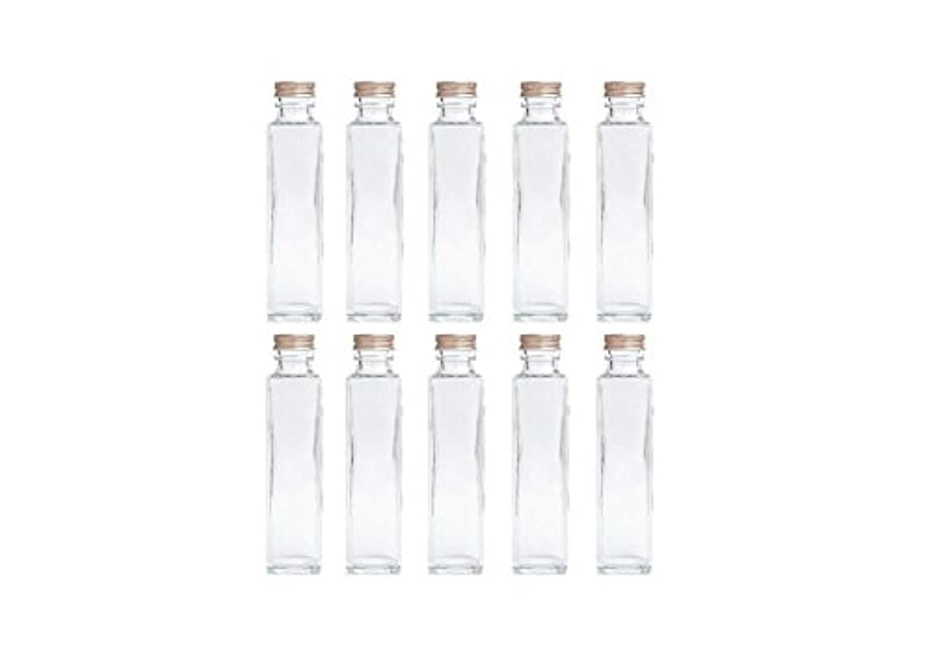 疫病のぞき見読みやすさHULALA ハーバリウム用ガラス瓶 日本製 10本セット (角型 150ml)