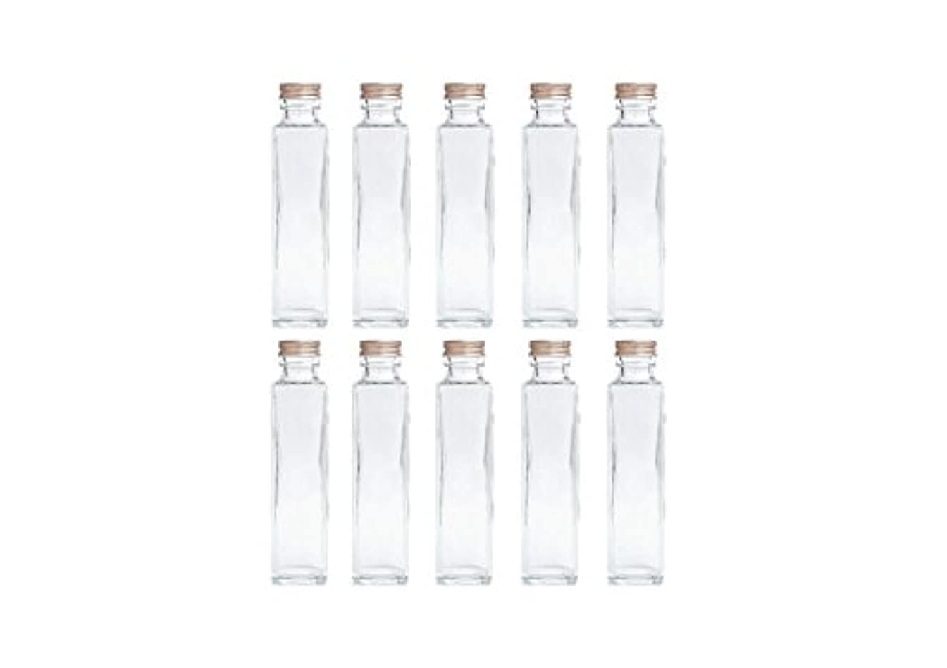 普遍的な仕事に行く息苦しいHULALA ハーバリウム用ガラス瓶 日本製 10本セット (角型 150ml)