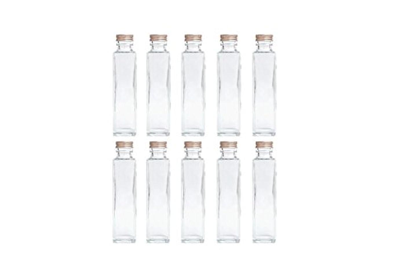 苗引用天国HULALA ハーバリウム用ガラス瓶 日本製 10本セット (角型 150ml)
