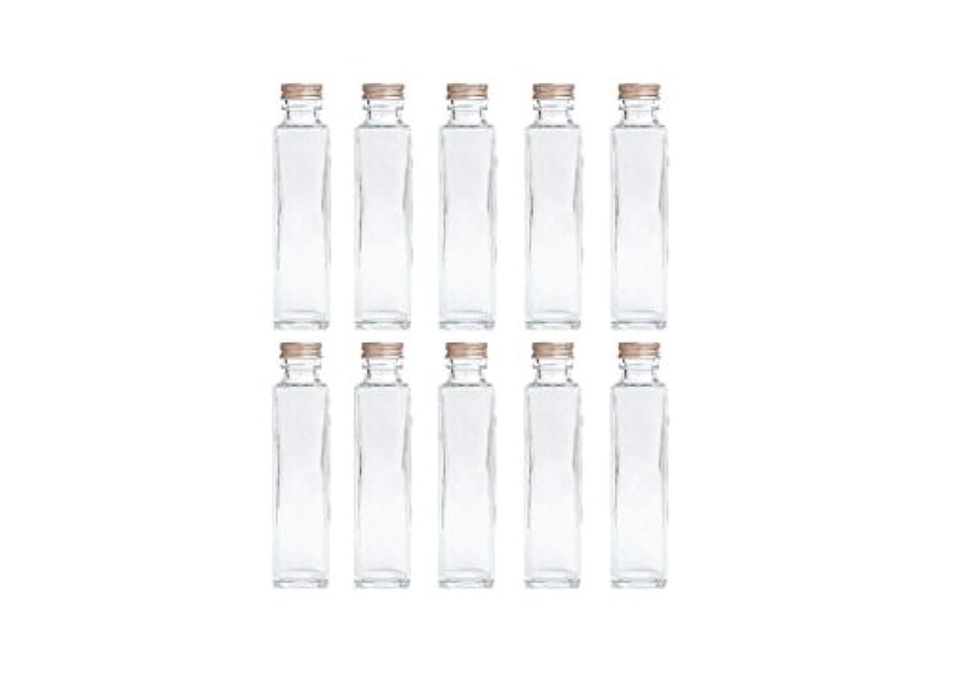 買う自我イブニングHULALA ハーバリウム用ガラス瓶 日本製 10本セット (角型 150ml)