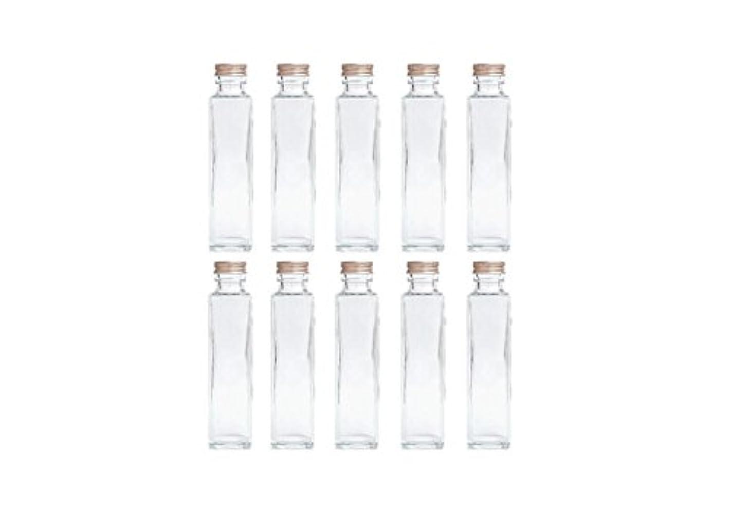 ペネロペ関係する感度HULALA ハーバリウム用ガラス瓶 日本製 10本セット (角型 150ml)