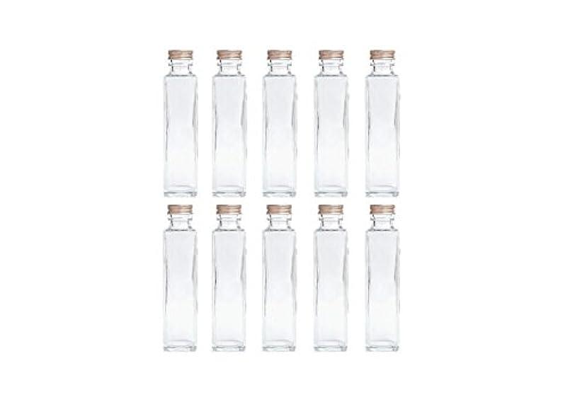 詳細に安定したファンドHULALA ハーバリウム用ガラス瓶 日本製 10本セット (角型 150ml)