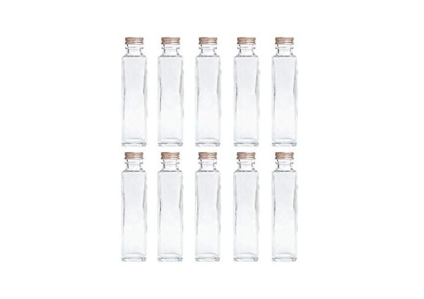 ヘクタールアプライアンスカウントアップHULALA ハーバリウム用ガラス瓶 日本製 10本セット (角型 150ml)