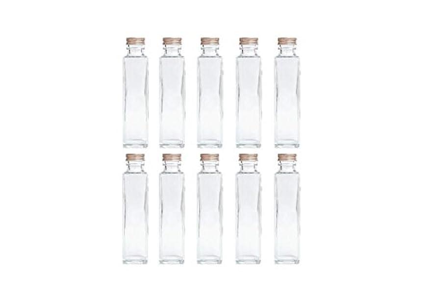 王族委任王室HULALA ハーバリウム用ガラス瓶 日本製 10本セット (角型 150ml)