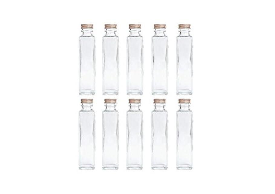タンザニア鉱夫パドルHULALA ハーバリウム用ガラス瓶 日本製 10本セット (角型 150ml)