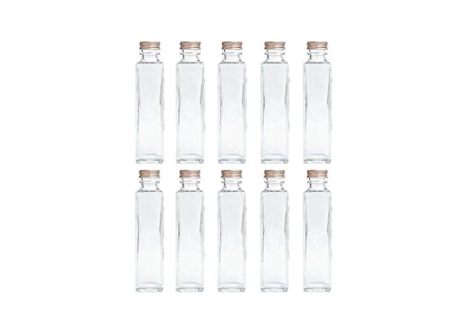 凍結表示雑草HULALA ハーバリウム用ガラス瓶 日本製 10本セット (角型 150ml)