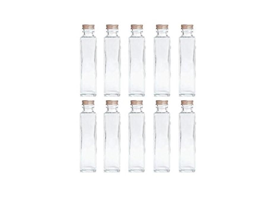 発揮するロードハウスしないでくださいHULALA ハーバリウム用ガラス瓶 日本製 10本セット (角型 150ml)