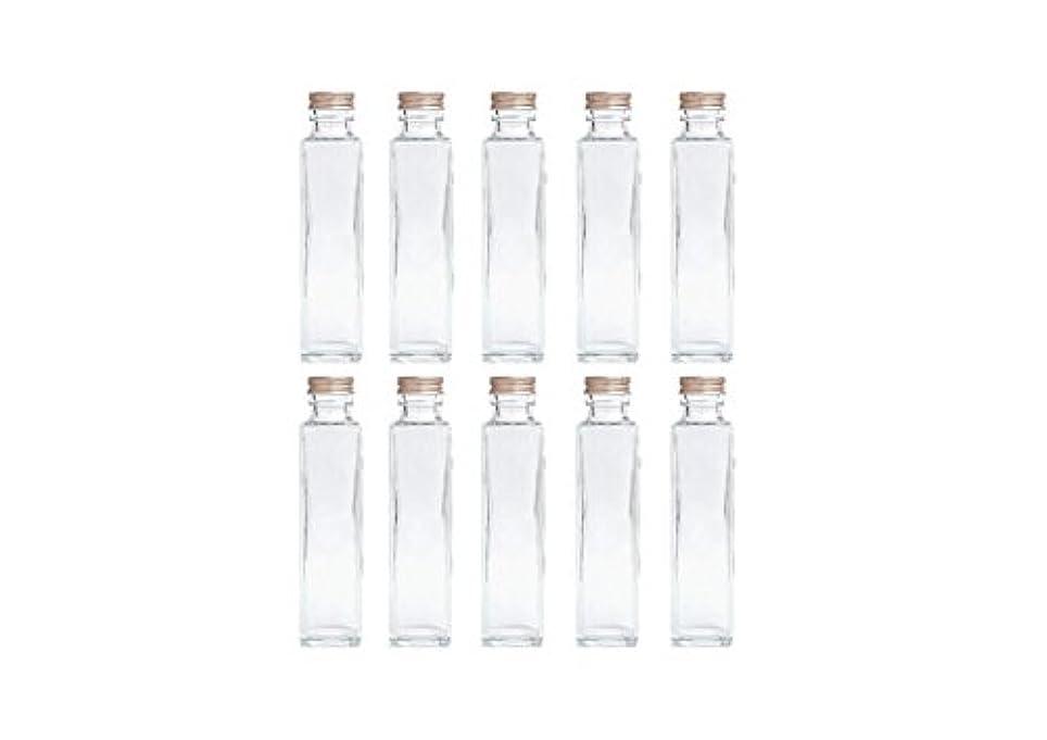 HULALA ハーバリウム用ガラス瓶 日本製 10本セット (角型 150ml)
