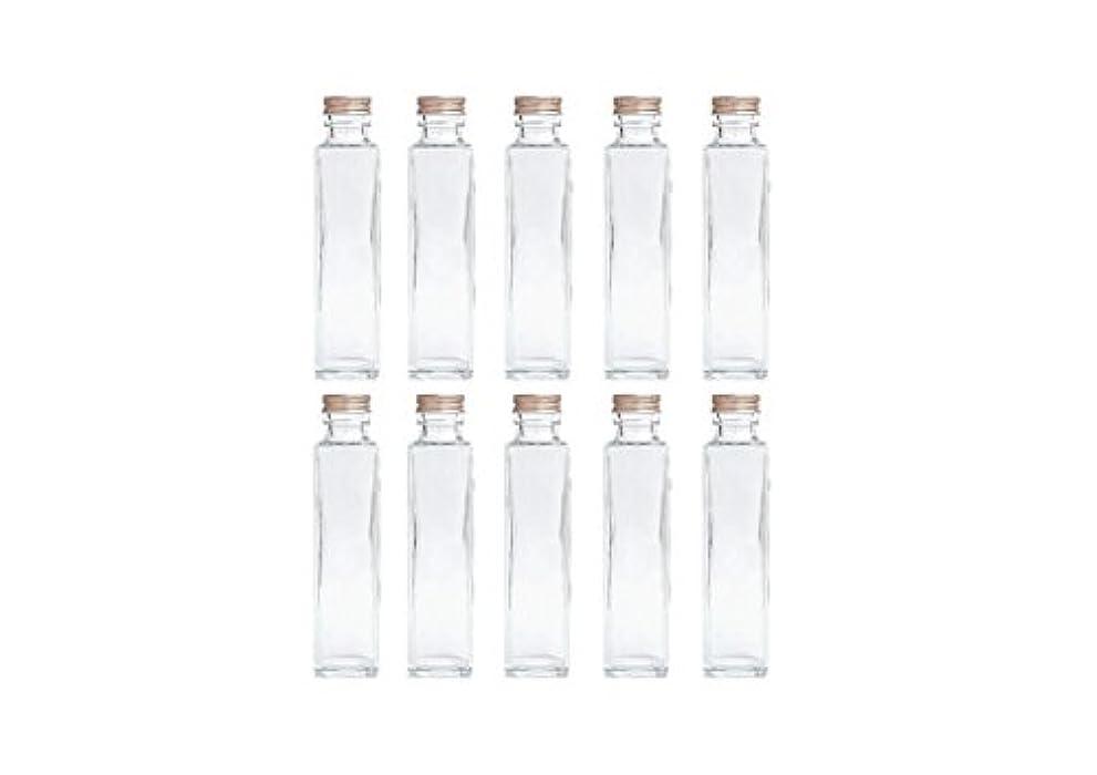 陰謀勤勉せがむHULALA ハーバリウム用ガラス瓶 日本製 10本セット (角型 150ml)