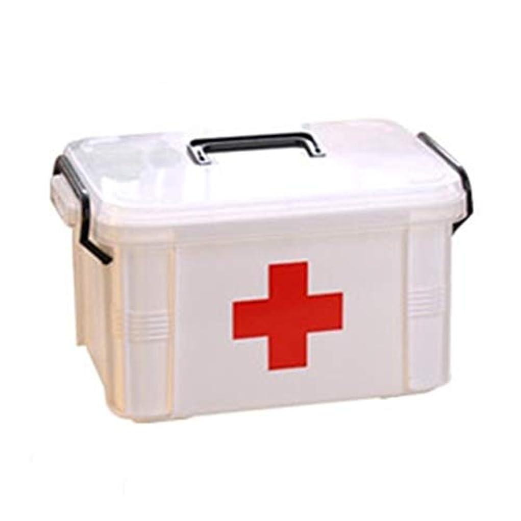 馬力によって鉛筆First aid kit スモールファミリーパックアプリケーション応急処置キット二層医療ボックス3つのサイズがあります。 XBCDP (Size : M)