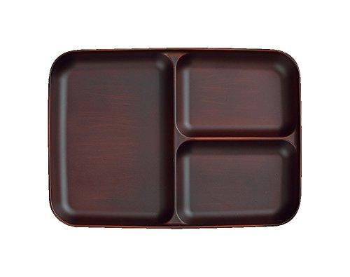 ハウスホールド SEE 仕切皿 ダークブラウン おしゃれ 日本製 食器洗い機対応 電子レンジ対応 木目 ウッド