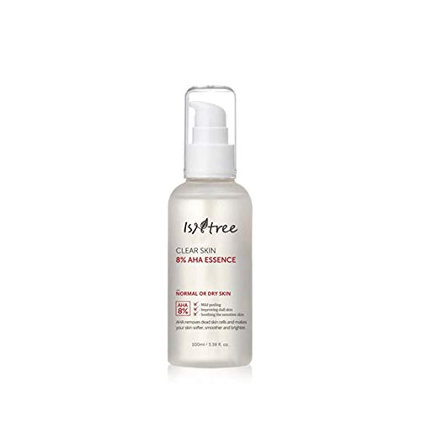 [IsNtree/イズアンドツリー] Clear Skin 8% AHA Essence 100ml/クリア スキン 8% AHA エッセンス 100ml 韓国コスメ 角質 美容液 [並行輸入品]