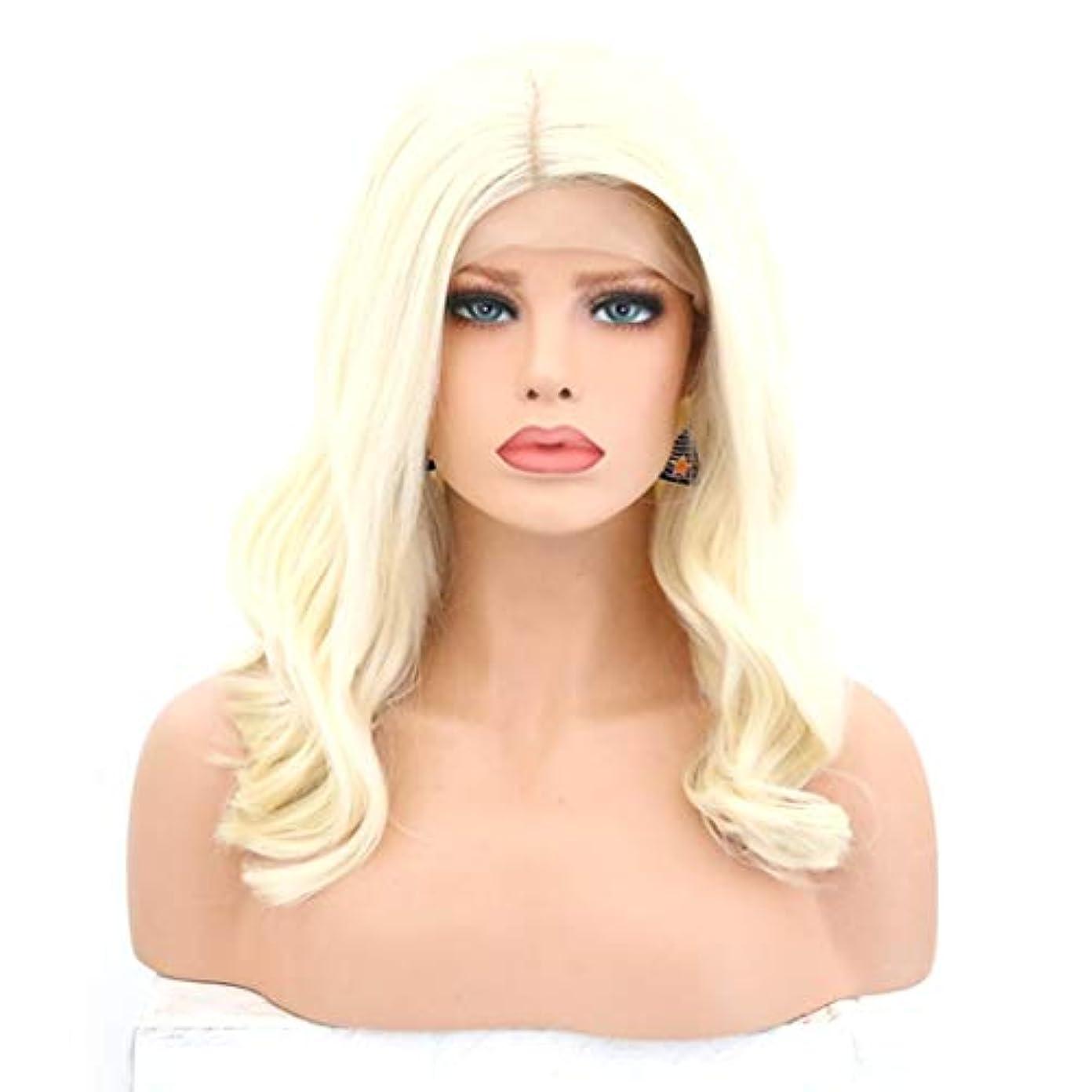 腐食するコメンテーターコストKerwinner 女性のための巻き毛のかつらかつらかつらフロントの合成繊維のかつらを自然な見るとかつら (Size : 26 inches)