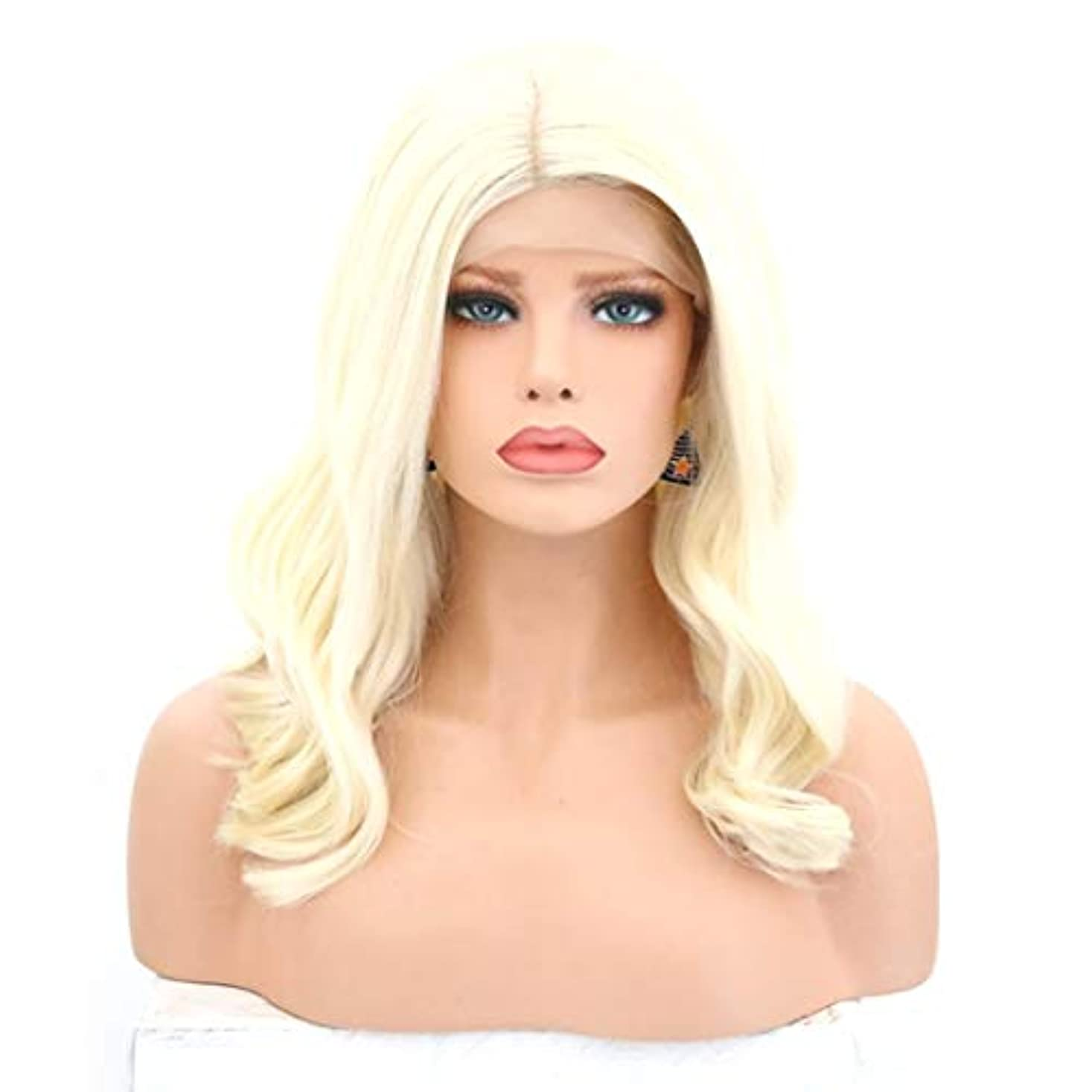 誓いクラック仲間、同僚Kerwinner 女性のための巻き毛のかつらかつらかつらフロントの合成繊維のかつらを自然な見るとかつら (Size : 26 inches)
