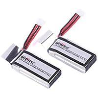 YouCute 2個 3.7V 350mAhバッテリー無人機バッテリー 適用機種 Udi U818A WIFI FPV Udi U845 (2つの電池)