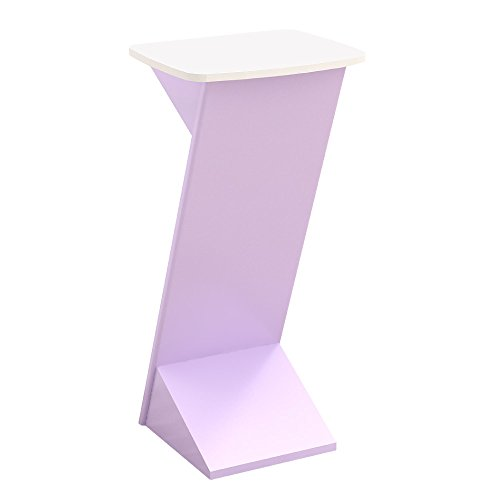 演台 立会議などに最適 おしゃれなキャスター付きテーブル ピンク