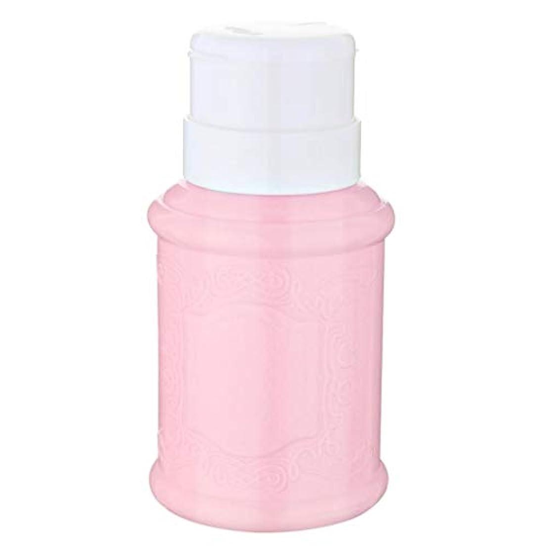 ミュート今後ベストT TOOYFUL 空ポンプ ボトル ネイルクリーナーボトル ポンプディスペンサー ネイル ポンプディスペンサー 全3色 - ピンク