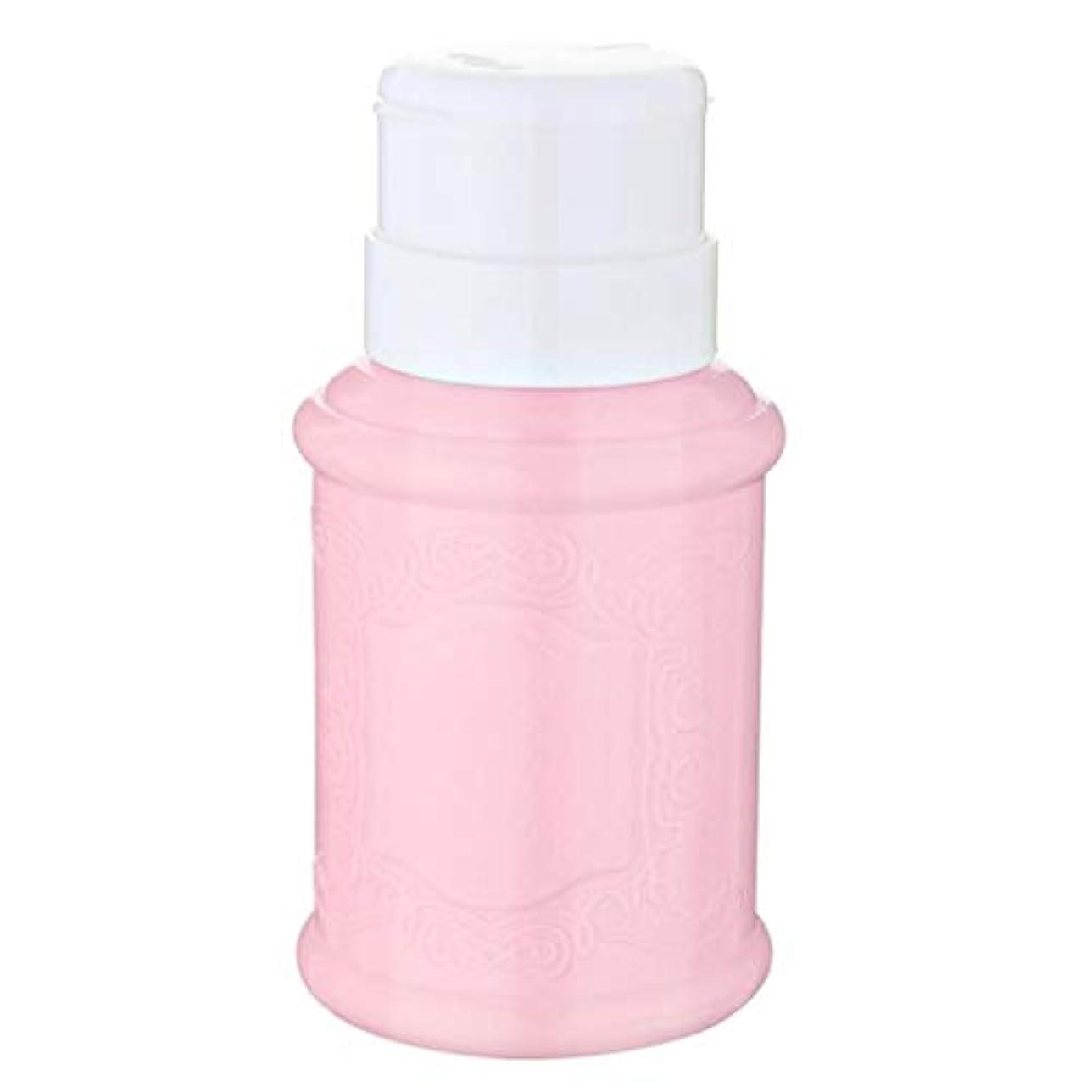 失う騒来てT TOOYFUL 空ポンプ ボトル ネイルクリーナーボトル ポンプディスペンサー ネイル ポンプディスペンサー 全3色 - ピンク