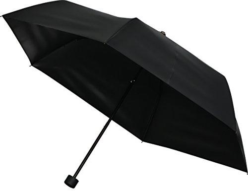 ottostyle.jp 完全遮光 折りたたみ日傘 晴雨兼用 丸型ハンドル 直径86.5cm (軽量 約170g/デュポン社製テフロン加工/遮光率100%/UVカット率 約99.9%/UPF50+)
