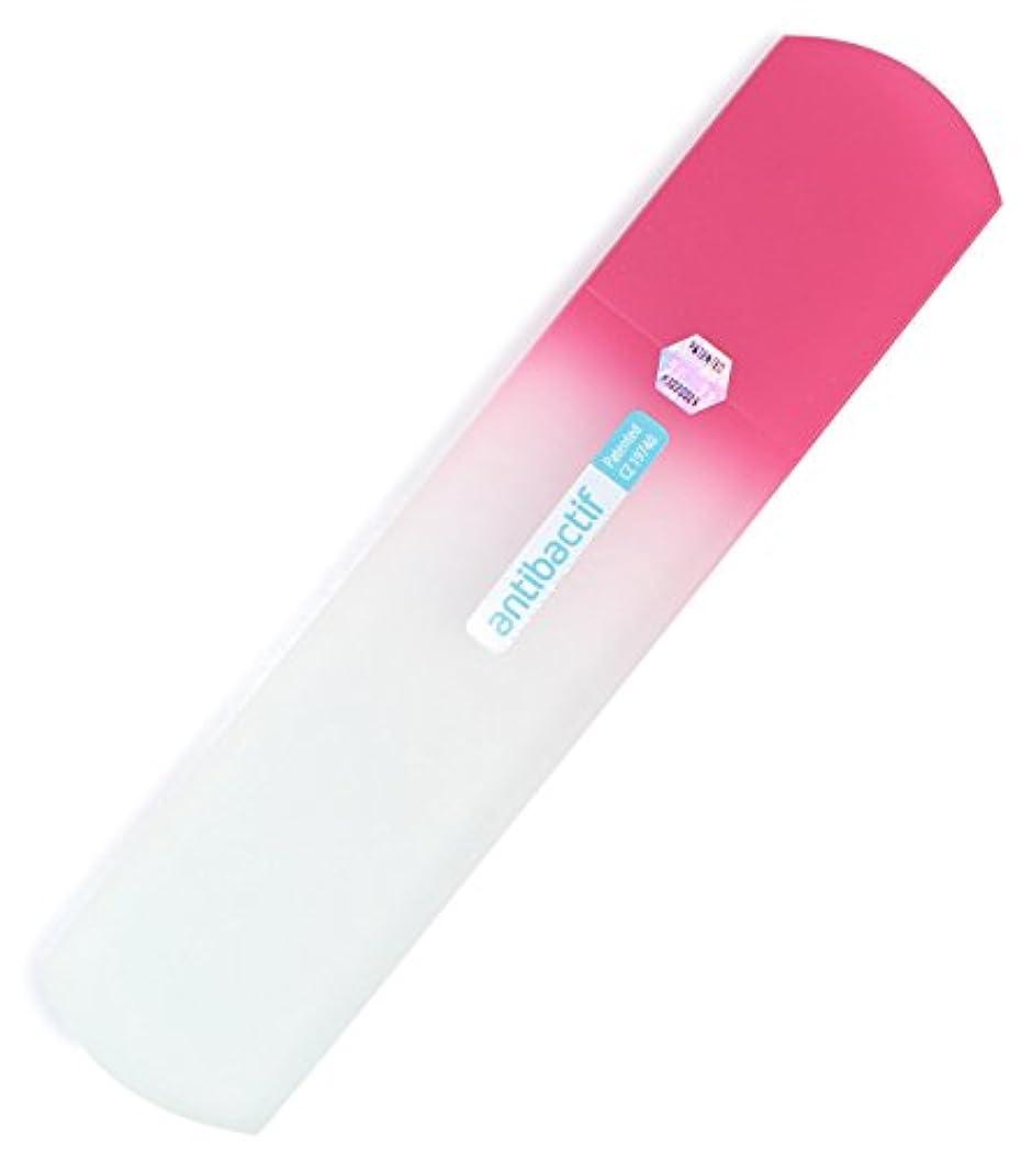 交渉するママひねりBLAZEK かかと用やすり ガラス製 抗菌 ピンク
