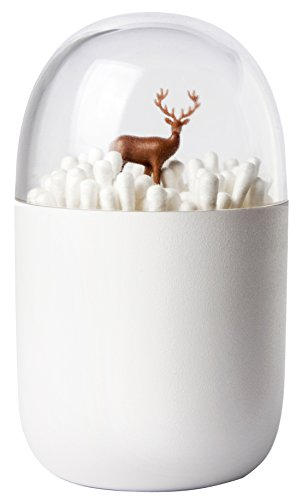 QUALY 綿棒ケース Cotton Bud Holder Deer Yard (雪原に佇むシカ) 521707200