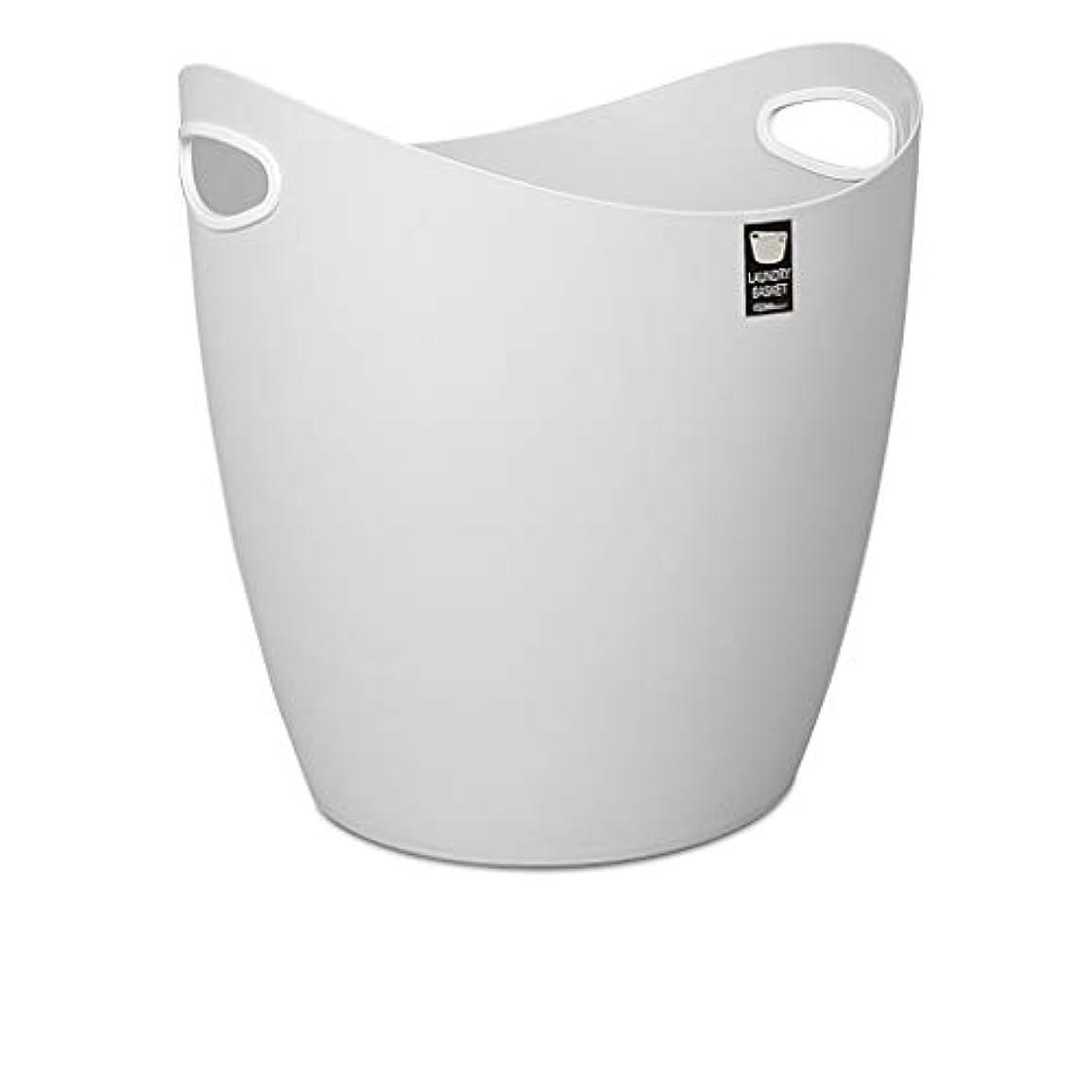 メガロポリスどちらもの前でSMMRB 汚れた洗濯かご、洗濯かご、家庭用収納かご、プラスチック製のバケツ、小中 (色 : Gray, サイズ さいず : M)