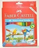 Faber Castell 48色水彩鉛筆in Cardboardボックス( Parrot ) [無料ギフト: Faber Catellペンシルケース]