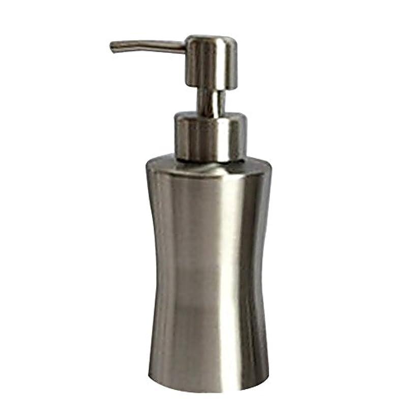 好む寛容汚染されたPueriソープローションディスペンサーステンレススチール液体ソープディスペンサーポンプ付きキッチンやバスルーム A:220ml シルバー Pueri-123