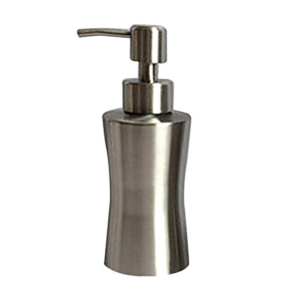 モディッシュ組立密輸Pueriソープローションディスペンサーステンレススチール液体ソープディスペンサーポンプ付きキッチンやバスルーム A:220ml シルバー Pueri-123