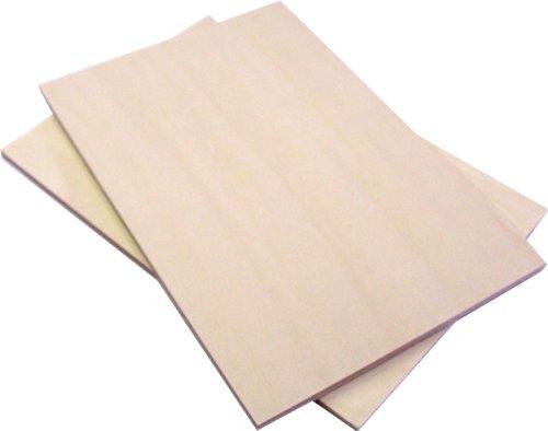 RoomClip商品情報 - 両面使えるシナベニアの版画板 5枚セット ノート判 150×225mm