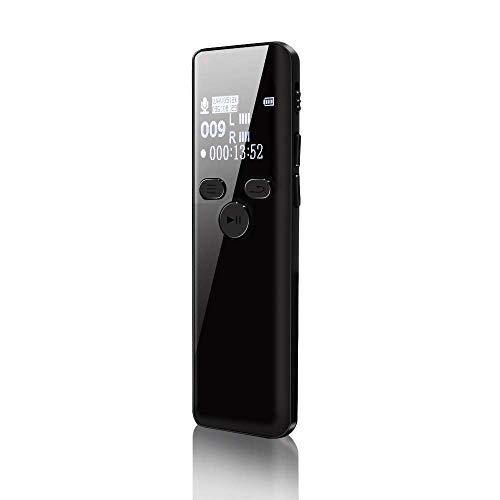 【2019 最新版】ボイスレコーダー ICレコーダー 録音機 ハイレゾ録音 8GB 広幅スクリーン 小型 超薄 超軽量 大容量 1536kbps高音質 長時間録音 液晶画面 内蔵マイク 定時録音 変速再生 パスワード保護 MP3プレーヤー等多機能搭載 簡単操作 詐欺撃退 セクハラ対策 日本語説明書付き (黒)