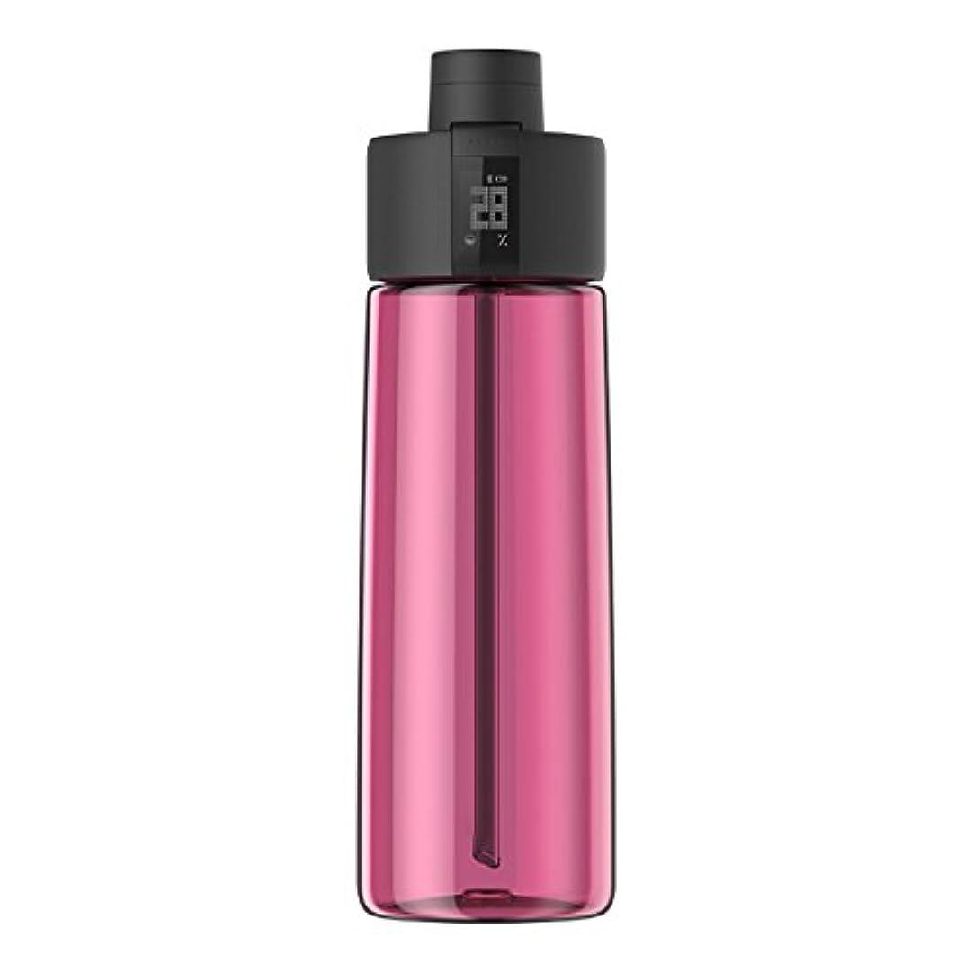 合併レザー懐Techcomm bocombiスマートウォーターボトルZephair Hydrationトラッキング、アラームスマートストローテクノロジーと水和のホットとコールドnon-carbonated Drinks