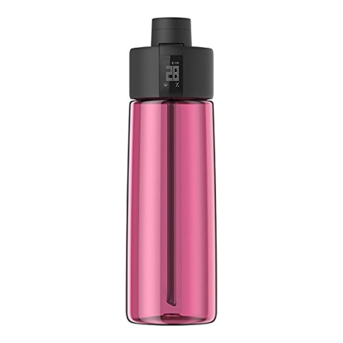 Techcomm bocombiスマートウォーターボトルZephair Hydrationトラッキング、アラームスマートストローテクノロジーと水和のホットとコールドnon-carbonated Drinks
