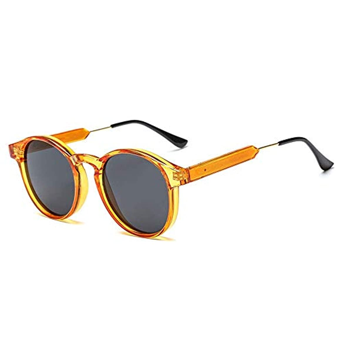 強化する現代の祝うレトロサングラス、海ラウンドサングラスオレンジにのんびりとショッピングの休暇のためにユニセックスアウトウォーキング