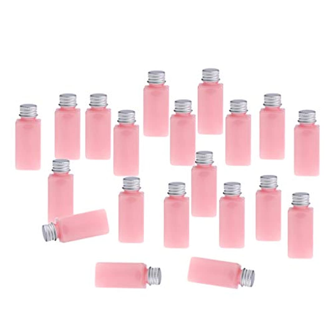 ストッキング不運蜜SM SunniMix 全8色 PETボトル 空のボトル 小分け用 化粧品 香水 エッセンシャルオイル 漏れ防止 約20個 - ピンクシルバー