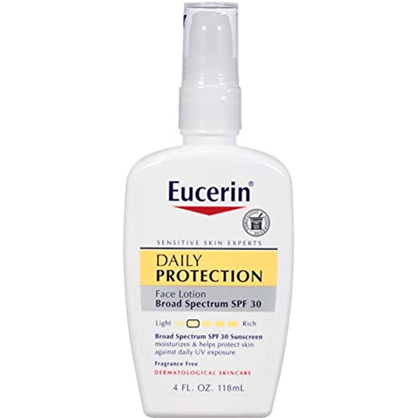 十分に口頭実装する海外直送肘 Eucerin Everyday Protection Face Lotion Sensitive Skin Spf 30, 4 oz