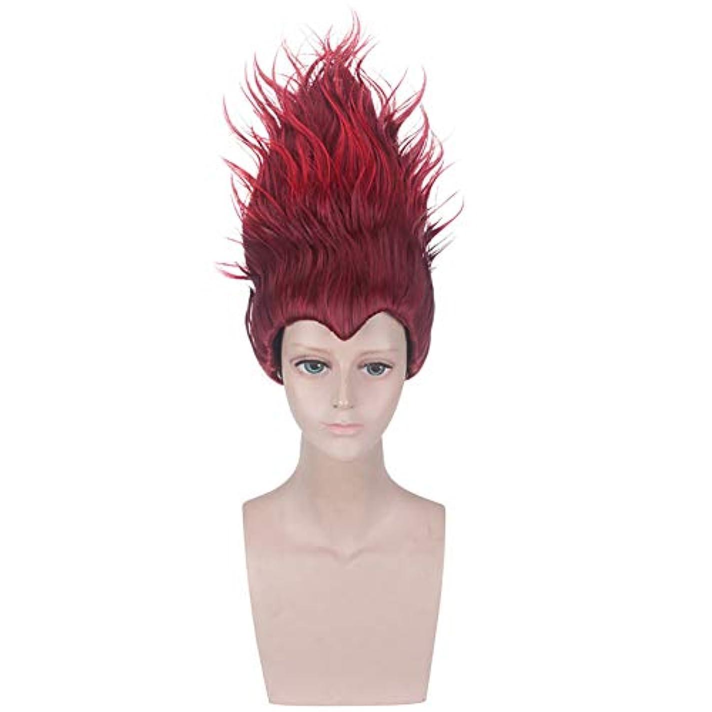 ヶ月目うそつき南西パーティーウィッグショートブラックレッドメンズ人工毛ウィッグを再生ウィッグの役割,赤