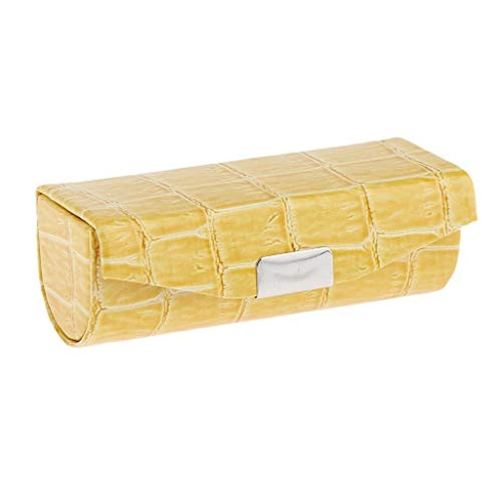 負機構フォームSharplace 口紅ケース 小物収納ケース プレゼント ミラー付き 多色選べ - 黄