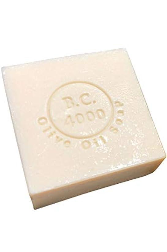 練るセッティング祈り100% バージンオリーブオイル石鹸 B.C.4000 オーガニック せっけん 100g 1個