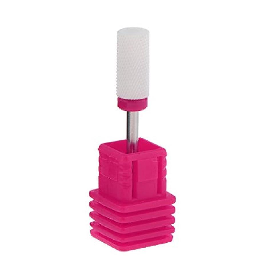 ガムスノーケルフレッシュDYNWAVE ネイルアート ドリルビット 研磨ヘッド 電気ドリルビット セラミック ネイル 全6色 - ピンク