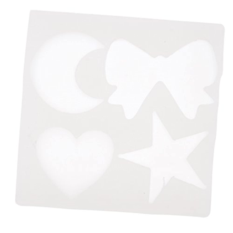 Perfk (スター+月+ハート)シリコンモデル ペンダント金型 宝石類金型 手芸ツール 手作りか飾り