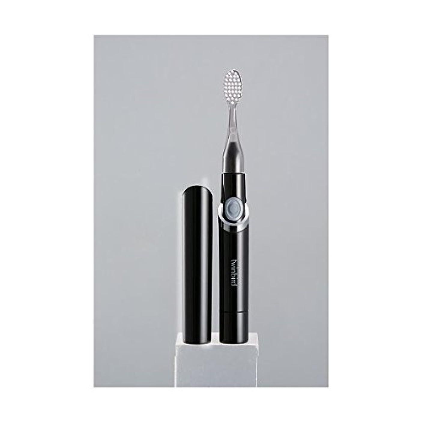 旅行差し迫ったオン(まとめ)ツインバード 音波振動式歯ブラシ ブラック BD-2741B【×2セット】 ダイエット 健康 オーラルケア 歯ブラシ [並行輸入品]