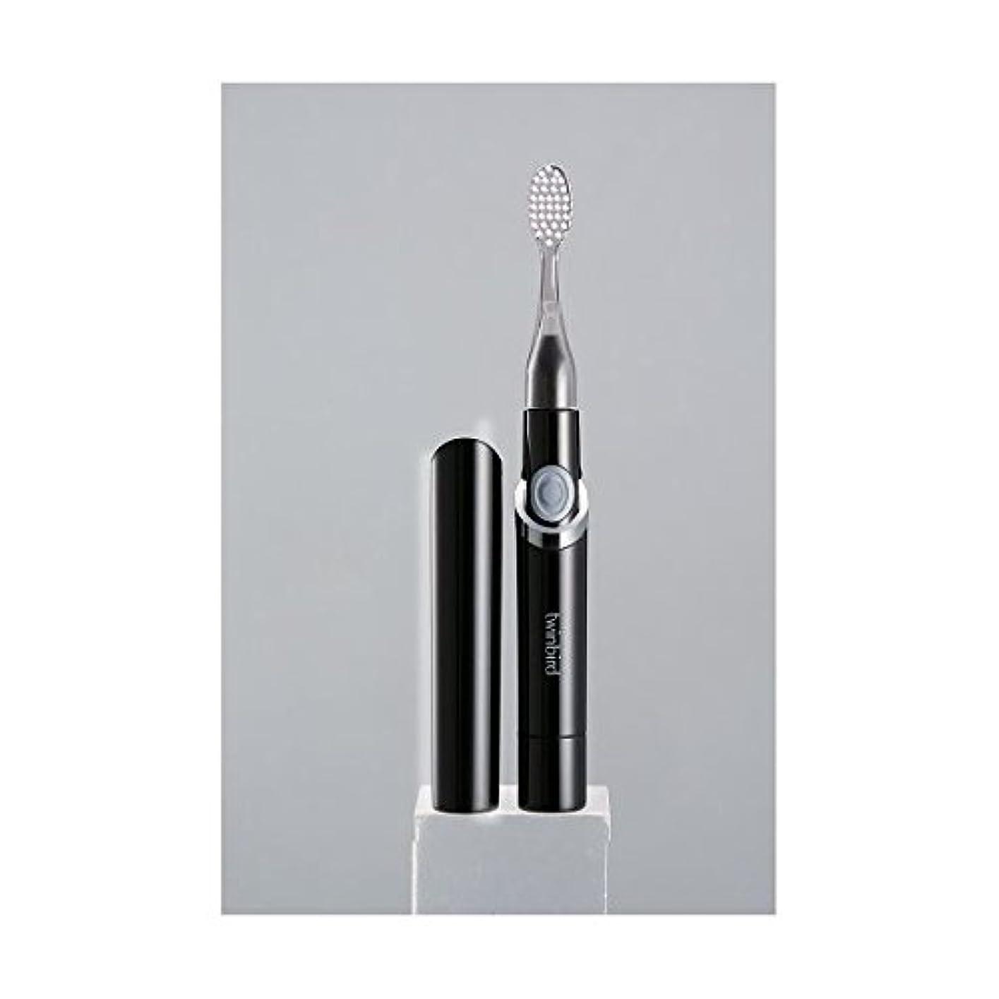 ようこそ入る吹きさらし(まとめ)ツインバード 音波振動式歯ブラシ ブラック BD-2741B【×2セット】 ダイエット 健康 オーラルケア 歯ブラシ [並行輸入品]